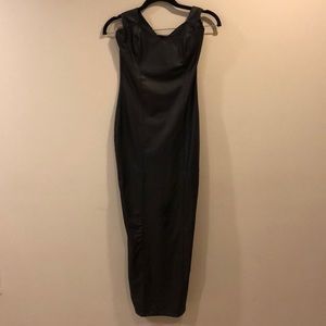 Sexy Peter Domenie Black Pleather Dress Sz XS